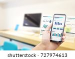 mobile phone with automated... | Shutterstock . vector #727974613
