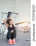 Small photo of Beautiful young woman fitness fitness at the fitness.