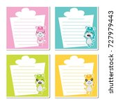 cute unicorn girls on colorful... | Shutterstock .eps vector #727979443