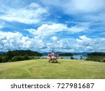 the helicopter parked in the... | Shutterstock . vector #727981687