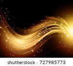 snowflakes and stars golden... | Shutterstock . vector #727985773