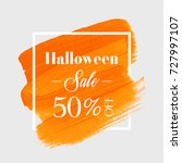 halloween sale 50  off sign... | Shutterstock .eps vector #727997107
