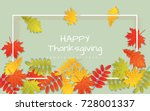 happy thanksgiving day... | Shutterstock .eps vector #728001337