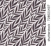 hand drawn pattern with... | Shutterstock .eps vector #728021437