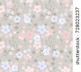 vintage flowery pattern.... | Shutterstock .eps vector #728023237