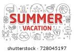 linear illustration of a slide...   Shutterstock .eps vector #728045197