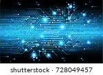binary circuit board future... | Shutterstock .eps vector #728049457