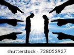 silhouette  humiliated the man...   Shutterstock . vector #728053927