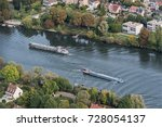 Aerial Vie Of Barges On The...