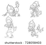 werewolf character vector and...   Shutterstock .eps vector #728058403