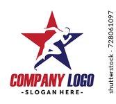 running and marathon logo vector   Shutterstock .eps vector #728061097