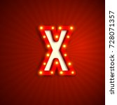 retro style letter x with... | Shutterstock .eps vector #728071357
