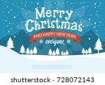 merry christmas snowy background | Shutterstock .eps vector #728072143