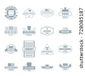 building materials logo icons... | Shutterstock .eps vector #728085187