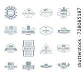 building materials logo icons... | Shutterstock .eps vector #728085187