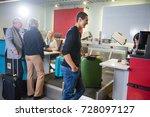 airline passengers weighting... | Shutterstock . vector #728097127