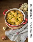cauliflower baked with eggs and ... | Shutterstock . vector #728108323