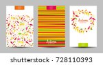 vector set of the strips and... | Shutterstock .eps vector #728110393