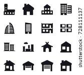 16 vector icon set   mansion ... | Shutterstock .eps vector #728111137