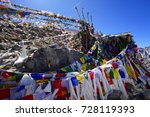 Small photo of Khardung La, highest motor-able road on the world, Kashmir, India (blessing sun script)