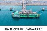 aerial view of oil tanker ship... | Shutterstock . vector #728125657