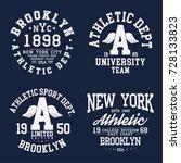 new york  brooklyn typography ...   Shutterstock .eps vector #728133823