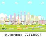 urban landscape | Shutterstock .eps vector #728135077