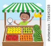 fruit seller | Shutterstock .eps vector #728141233