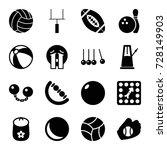 ball icons set. set of 16 ball...   Shutterstock .eps vector #728149903