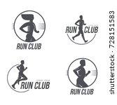 sportive man  woman jogging ...   Shutterstock .eps vector #728151583