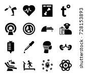 medicine icons set. set of 16... | Shutterstock .eps vector #728153893
