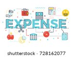 expense word lettering... | Shutterstock .eps vector #728162077