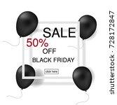 black friday banner. vector... | Shutterstock .eps vector #728172847