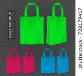 realistic shopping bag... | Shutterstock .eps vector #728179417
