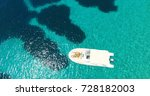 aerial view beautiful couple in ... | Shutterstock . vector #728182003