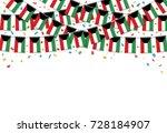 kuwait flags garland white...   Shutterstock .eps vector #728184907