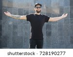 hipster handsome male model... | Shutterstock . vector #728190277