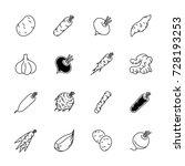 vegetables icons   potato ... | Shutterstock .eps vector #728193253