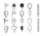 hand drawn doodle navigation... | Shutterstock .eps vector #728196583