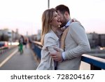 happy romantic couple hugging... | Shutterstock . vector #728204167