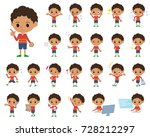 set of various poses of perm... | Shutterstock .eps vector #728212297