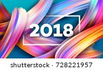 2018 new year on the background ... | Shutterstock .eps vector #728221957