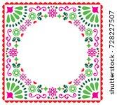 folk vector greeting card ... | Shutterstock .eps vector #728227507
