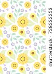 Summer Sunflowers Seamless...