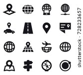 16 vector icon set   pointer ...   Shutterstock .eps vector #728233657