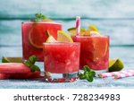 cold watermelon drink with... | Shutterstock . vector #728234983