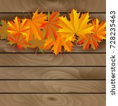 illustration of colorful autumn ... | Shutterstock .eps vector #728235463