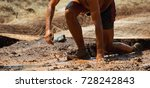 mud race runners obstacle race... | Shutterstock . vector #728242843