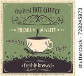 best hot coffee vintage... | Shutterstock .eps vector #728245873