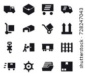 16 vector icon set   truck  box ... | Shutterstock .eps vector #728247043